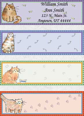 Cats Rule Booklet of 150 Address Labels