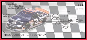 Dale Earnhardt Personal Check Designs