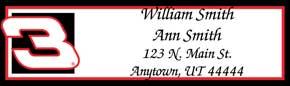 Dale Earnhardt Booklet of 150 Address Labels
