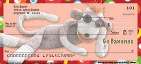 Sock Monkey Personal Check Designs