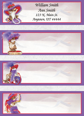 Charming Tails Hat-titude Booklet of 150 Address Labels