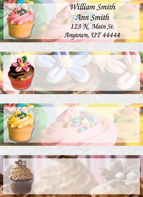 Cupcake Craze Booklet of 150 Address Labels