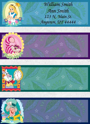 Alice In Wonderland Booklet of 150 Address Labels