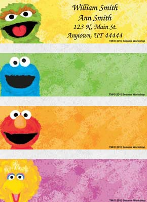 Sesame Street Labels