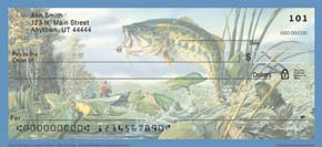 Gone Fishing Personal Check Designs