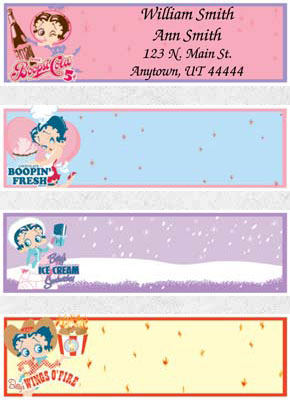 Betty Boop Labels