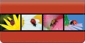 Ladybug Checkbook Cover