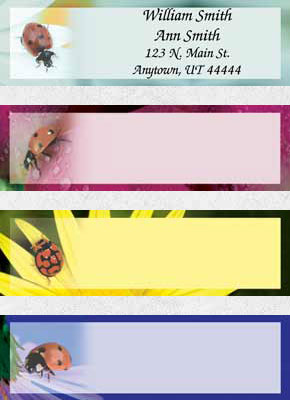 Lady Bug Luck Booklet of 150 Address Labels