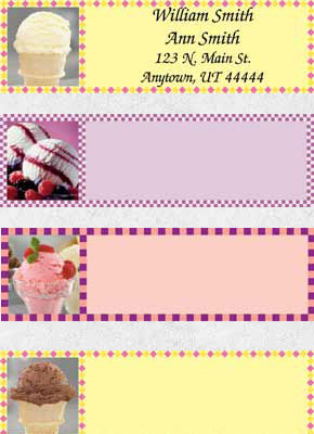 Ice Cream Dreams Booklet of 150 Address Labels