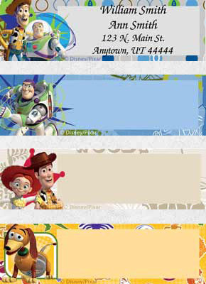 Toy Story Address Labels