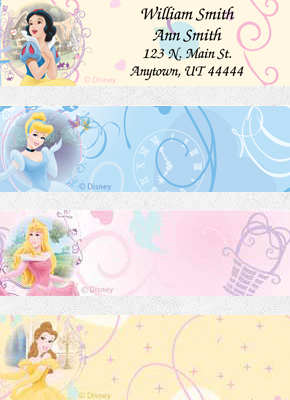 Disney Princess Dreams Booklet of 150 Address Labels
