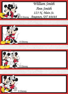 Mickey Loves Minnie Booklet of 150 Address Labels