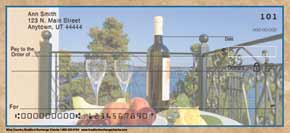 Wine Country Personal Check Designs
