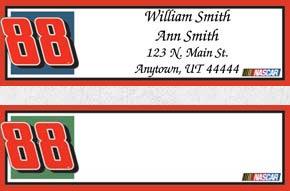 Dale Jr. Booklet of 150 Address Labels