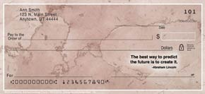 Marble Inspirations Personal Check Designs