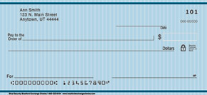Blue Security Personal Check Designs