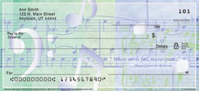 Music Speaks Personal Check Designs