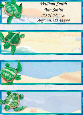 Turtle Tides Booklet of 150 Address Labels