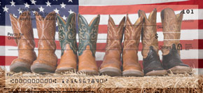 """Cowboy Boots"" Personal Check Designs"
