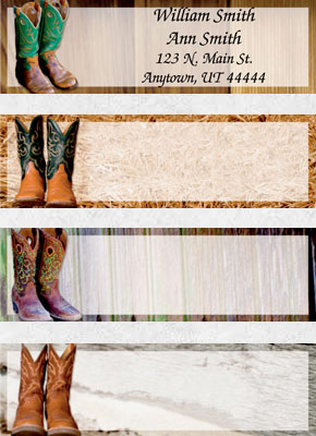Cowboy Boots Booklet of 150 Address Labels
