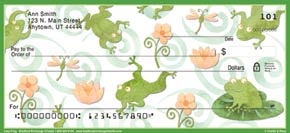 Challis & Roos Leap Frog Personal Check Designs