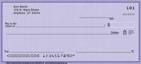 Purple Prosperity Personal Check Designs