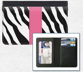 Zebra Print Credit Card Holder