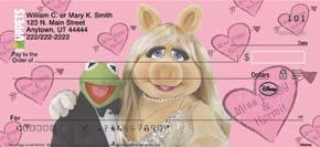 Miss Piggy Loves Kermie Personal Check Designs