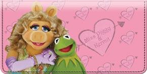 Miss Piggy Loves Kermie Checkbook Cover