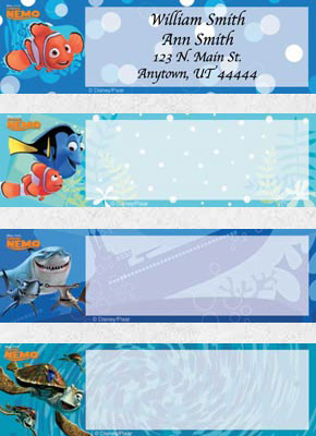 Disney/Pixar Finding Nemo Address Labels