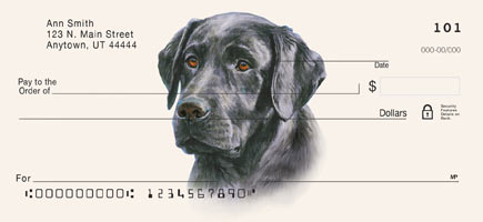 Linda Picken Black Lab Checks