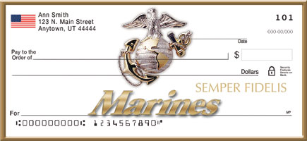"""U.S. Marines"" Personal Checks"
