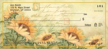 Sunflower Art Personal Checks