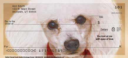 Faithful Friends Poodle Personal Checks
