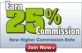 Earn 25% Commission! New higher commission rate – Join Now!