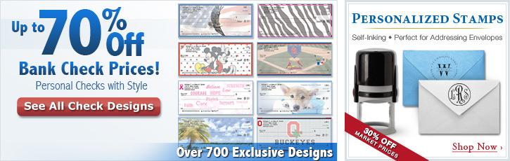 Up to 70% Off Bank Check Prices! - Personal Checks with Style - Over 300 Exclusive Designs: See All Check Designs