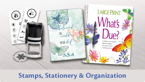 Stamps, Stationery & Organization