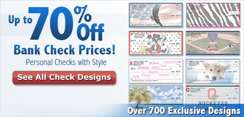 Up to 70% Off Bank Check Prices! Personal Checks with Style - Over 300 Exclusive Designs: See All Check Designs