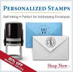 Personalized Stamps - Self-inking - Perfect for Addressing Envelopes! 30% Off Market Prices - Shop Now!