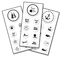 Peel an Stick Stamp Sets